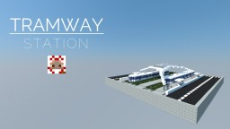 FUTURISTIC TRAMWAY STATION Minecraft Project