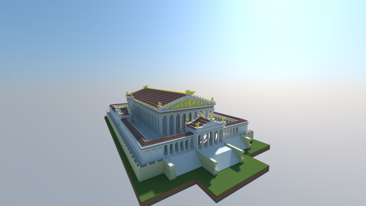 overview of the side that was facing the roman forum