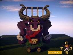Minotaur Statue Minecraft Project