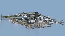 Naval and Air Force Combined Area ft Port area and ship building area + download !! Minecraft
