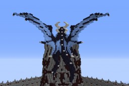 Medium dragon on tower Minecraft Project