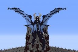 Medium dragon on tower Minecraft