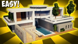 Minecraft: How To Build A Large Modern House Tutorial ( 2017 ) Minecraft Map & Project