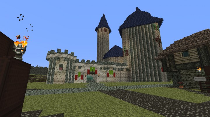 The castle inside Lexigar The town is not complete, it will be more crowded later on