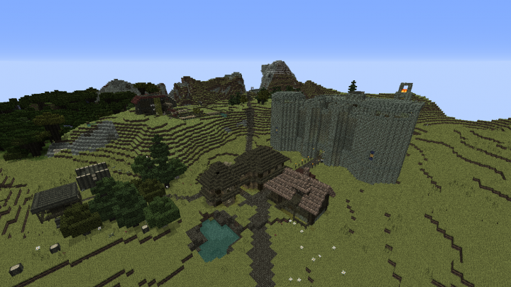 Castle Borogh skyview, also the surounding village