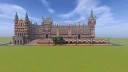 St.Pancras and King's Cross station in minecraft. Minecraft Project