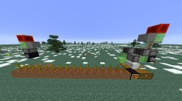 Flying Automatic Harvester and Collector Minecraft Map & Project