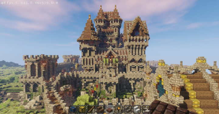 Castle rothelm detailed castle village harbour for Build a castle house