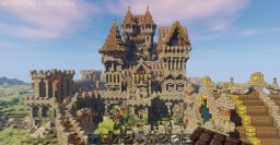 Castle Rothelm ( Detailed Castle + Village & Harbour) Minecraft Map & Project