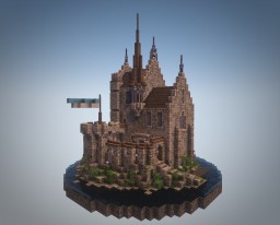 Castle on the circle Minecraft
