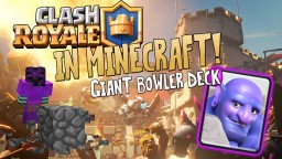 Clash Royale In Minecraft | Giant Bowler Card! One Command! 1.11 Minecraft Map & Project