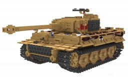 Tiger tank version late production 10:1 sclae Minecraft Project