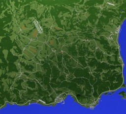 Scale Replica of Chernarus (DayZ) Minecraft Map & Project