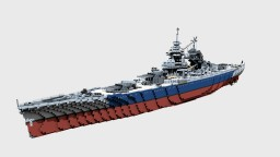French Battleship Richelieu 1:1 Minecraft