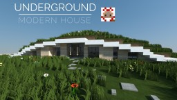 UNDERGROUND MODERN HOUSE Minecraft Map & Project