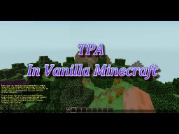 TPA System In Vanilla Minecraft