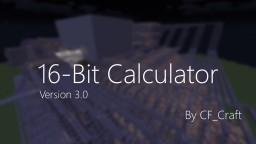 16-Bit Calculator Minecraft Map & Project