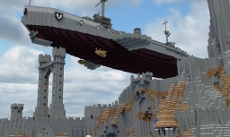 Aircraft battleship Imperator Gigant Minecraft Map & Project