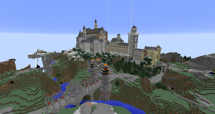 Best neuschwanstein minecraft maps projects planet minecraft castle neuschwanstein mc style minecraft map project freerunsca Image collections