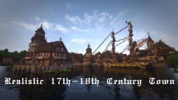 Realistic 17th-18th Century Town [With Interior][Download available now!] Minecraft