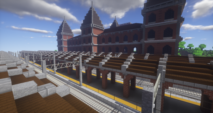 Central Station - Real Train mod Minecraft Project