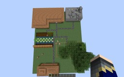 Redstone House with Mine and Farm Minecraft Map & Project