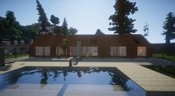 two - contemporary cabin Minecraft