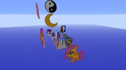 My Little Pony Pixle Art Minecraft World!! Minecraft Map & Project