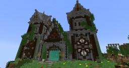 survival build/ Town hall/village/cemetery/bridge Minecraft Project