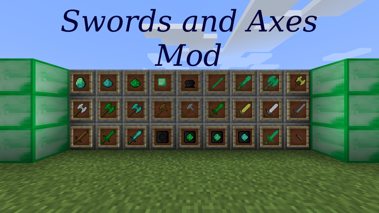 Swords and Axes Mod (MC 1 11 2) Minecraft Mod