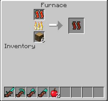 Cooked Bacon is use with tools in crafting bench after cooking