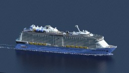 Cruise Ship - Quantum Of The Seas  { 1:1 Scale } - Royal Caribbean Cruise Line Minecraft Map & Project
