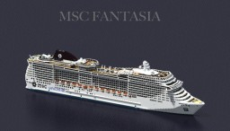 Cruise Ship - MSC Fantasia {1:1 SCALE - FULL INTERIOR } - ( + Download ) Minecraft Project