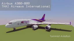 Airbus A380-800 Thai Airways International [+Download] Minecraft Map & Project