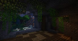 Home behind the Waterfall Minecraft Map & Project