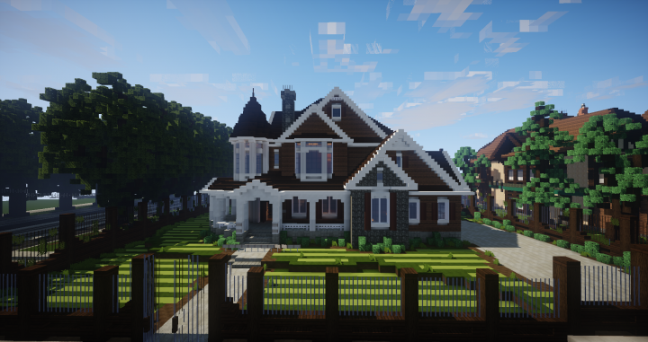 Traditional house victorian suburban style minecraft project for Victorian traditional homes