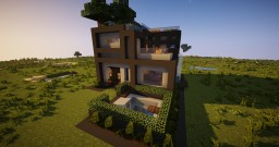 Modern Cube House Minecraft Project