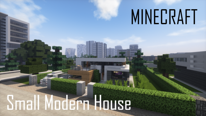 Small Modern House Full Interior Minecraft Project