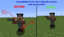 [1.8/1.7.10] Compatibility Fix for Flan's Mod 3D armours with Custom NPCs Minecraft Mod