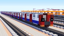 London Underground Tube 2009 Stock Train Minecraft Project
