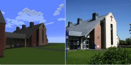 School built to scale using actual blueprints Minecraft Map & Project