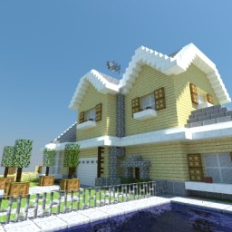 A Generic Suburban House Minecraft Map & Project