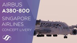 Airbus A380-800 Singapore Airlines Concept Livery [Download] Minecraft Map & Project