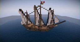 17th Century Ship | Xebec (download) Minecraft