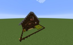 Small Log Cabin Build Minecraft Project