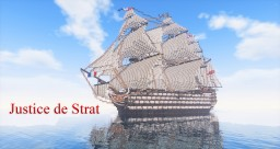 ~ Justice de Strat ~ 1:1 French 160 gun 1st rate ship of the line Minecraft