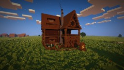 Minecraft Spruce Rustic House w/Download Minecraft Map & Project