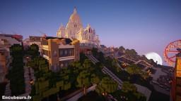 Basilique Sacre Coeur et bute Montmartre Minecraft Map & Project