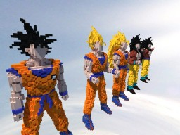 Son Goku 3D Art Collection Minecraft