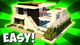 Minecraft: How To Build A Large Modern House Tutorial ( 2017 ) Minecraft Project